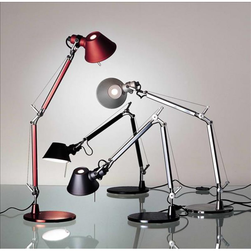 artemide tolomeo micro tischleuchte mit fu. Black Bedroom Furniture Sets. Home Design Ideas